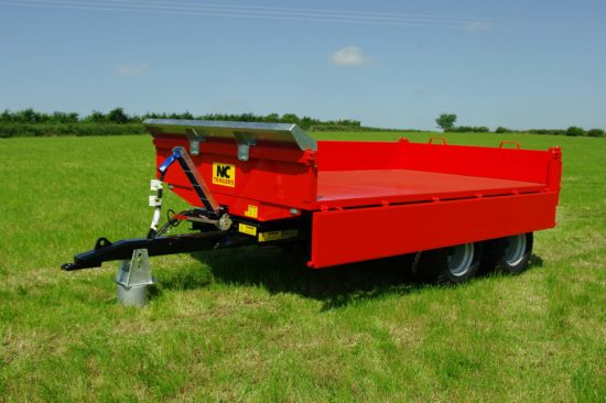 NC-8T-Euro-Dropside dump trailer